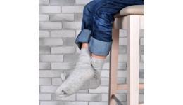 Дитячі шкарпетки DUNA 471 демі  12-14 сірі 75%бавовна  23%поліамід  2%еластан