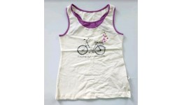 Майка /Велосипед/для девочек супр. лайкр молоко-сирень  р.146 ТМ РОБІНЗОН