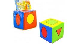 Кубик тканина брязкальце  Геометричні фігурки  ТМ Розумна іграшка