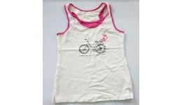 Майка /Велосипед/для девочек супр. лайкр молоко+малина  р.152 ТМ РОБІНЗОН