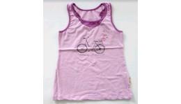 Майка /Велосипед/для девочек супр. лайкр сирень светлая+сирень  р.140 ТМ РОБІНЗОН