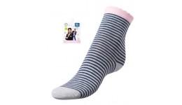 Дитячі шкарпетки для дівчаток р.23-25 полоска - 80%бав.18%ПА.2%еластан.