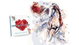 Картина за номерами на полотні 40см*40см № 5 Кінь з фарбами  ДТ(1/10)