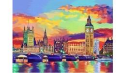 Картина за номерами на полотні 40см*50см № 8 Лондон з фарбами ДТ(1/10)
