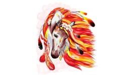 Картина за номерами на полотні 40см*50см № 7 Кінь з фарбами ДТ(1/10)