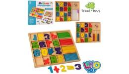 Дерев`яна іграшка Набір першокласника MD 1245 цифри  годинник  3 види  кор.  25-20-2 см(НУШ)
