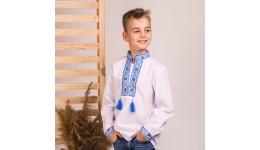 Сорочка«Богданчик» Р.134 блакитний (75% бавовна  15% віскоза  10% поліестр)  ТМ ВАЛЕРІ-ТЕКС