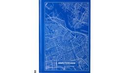 Канцелярська книга А4 AXENT 8422-507-A Maps Amsterdam 96арк кліт блакитний