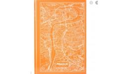 Канцелярська книга А4 AXENT 8422-542-А Maps Prague 96арк кліт персиковий