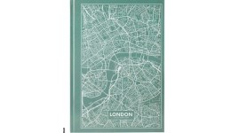 Канцелярська книга А4 AXENT 8422-516-А Maps London 96арк  кліт  бірюзовий