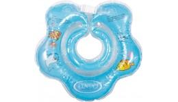 Круг для купання немовлят КВІТОЧКА LN-1560 синій ТМ Ліндо