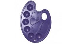 Палітра Zibi 6920-07 овальна пластикова фіолетова (5)