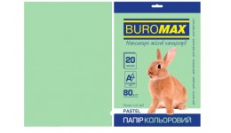 Папір д/друку кольор. А4  20арк BUROMAX  св-зелений  80г/м2 (1/150)