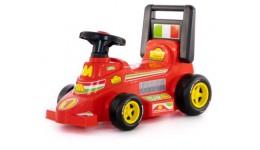 Автомобіль-каталка гоночний  Трек  64 5x33 5x42см +звуковий сигнал на кермі ТМ POLESIE