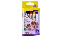 Воскові олівці  ZiBi 2483 на 6кол Джамбо