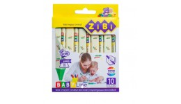 Воскові олівці  ZiBi 2482 на 10кол Джамбо круг.корп. BABY Line