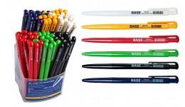 Ручка кульк. автомат. BUROMAX 8205-01 синя 0 7мм BASE (80)