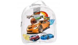 Рюкзак дитячий прозорий  Авто-1  силікон 27 * 25 * 8 см