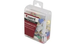 Кнопки AXENT 4214 кольорові 100шт в пластик. контейнері (1/10)