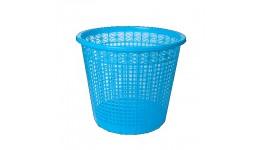 Корзина д/паперів ZiBi 3040-02 пластик. кругла 8л СИНЯ (1/50)