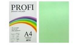Папір д/друку кольор. А4 100арк.  PROFI зелена 80г №190 (1)