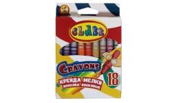 Воскова крейда CLASS 7604 кругла 18 кольорів 8-90мм (1)