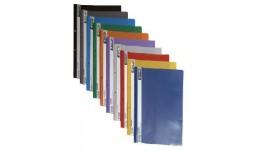 Папка-швидкозшивач 4OFFICE 4-240-68 А-4 з перфор. проз. верх  пластик. ЖОВТА (10/240)