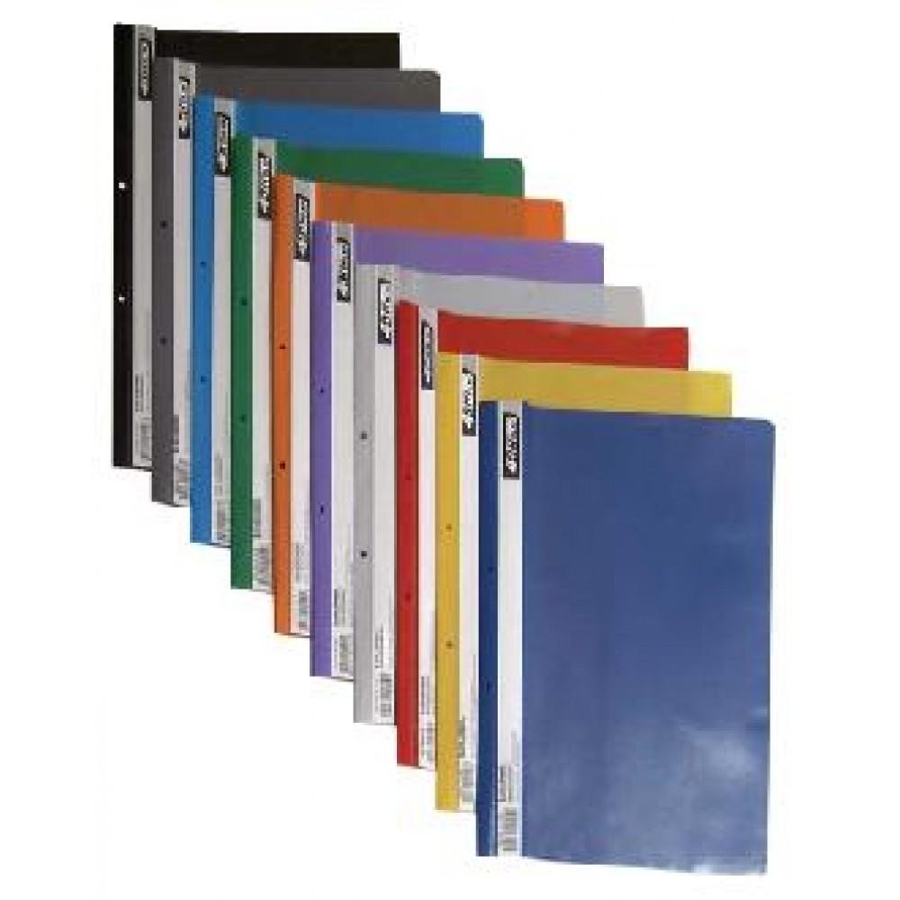 Папка-швидкозшивач 4OFFICE 4-240-56 А-4 з перфор. проз. верх  пластик. ФІОЛЕТОВА (10/240)