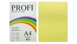 Папір д/друку кольор. А4 100арк.  PROFI жовта 80г №160 (1)