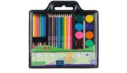 Набір для малювання Zibi 6400 (фарби  кол. та воск. олівці  пенз. натурал. та чинка) (1/12)