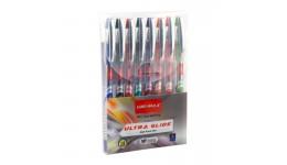 Набір UNIMAX 116-20 кулькових ручок 8кол.  Ultraglide  (1/20)