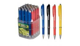 Ручка кульк. автомат. 4OFICE 4-2011 синя 0 7мм (40)