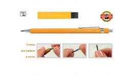 Олівець графіт. KOH-I-NOOR 5201 цанговий VERSATIL 2мм метал. корпус (1/20)
