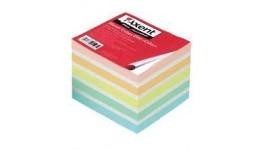 Блок паперу AXENT 8028 д/нотаток КОЛОР несклеєний 90*90*70мм (1/36)