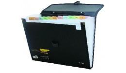 Портфель-картотека SCHOLZ 10501 А4 на 12 відділ. з регістрами чорний (1)