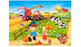 Пазл Касторленд 60 (878) Діти на фермі  32*23 см