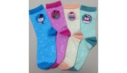 Дитячі шкарпетки DUNA 963 демі  16-18 рожеві 60%бавовна  38%поліамід  2%еластан