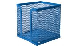 Бокс для паперу BUROMAX 6215-02 металевий  100х100х100мм синій (1/12)