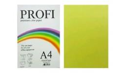 Папір д/друку кольор. А4 100арк. PROFI неон жовтий 80г №363 (1)