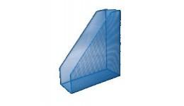 Лоток для паперів BUROMAX 6260-02 метал. вертикальний 80*230*300мм СИНІЙ (1)