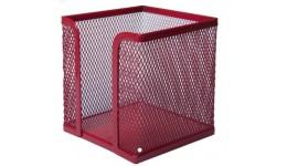 Бокс для паперу BUROMAX 6215-05 металевий  100х100х100мм червоний (1/12)