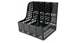 Лоток для паперів AXENT 4042-01 вертикальний збірний на 4 відділення  чорний (1)