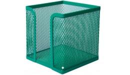 Бокс для паперу BUROMAX 6215-04 металевий  100х100х100мм зелений  (1/12)