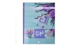 Канцелярська книга А4 BUROMAX 2400-306 тв. обкл. 96арк. клітинка  ROMANTIC  (1/8)