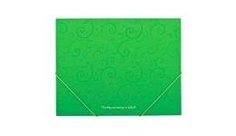 Папка на гумках А5 BUROMAX 3902-15 пластикова  Barocco  салатова (1)