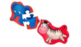 Бебі пазли магнітні:3208-12 Слоник та зебрік  (Vladi Toys)