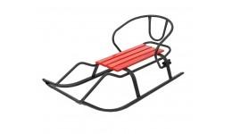 Пуф для іграшок   Автобус червоний 55*26*31см складний м яка кришка  витр. вагу до 30кг 2відділ