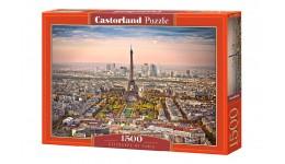 Пазл Касторленд 1500 (1837) Пейзаж Парижа 68*47 см