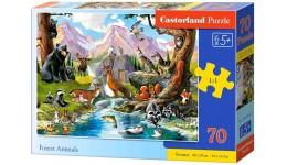 Пазл Касторленд  70 (091) Лісові тварини 40*29см