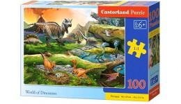 Пазл Касторленд  100 (1084) Світ динозаврів   40*29 см